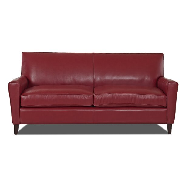 Grayson Leather Sofa by Wayfair Custom Upholstery™