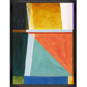 Artisbe An Abstract Painting by Clive Watts Framed Painting Print