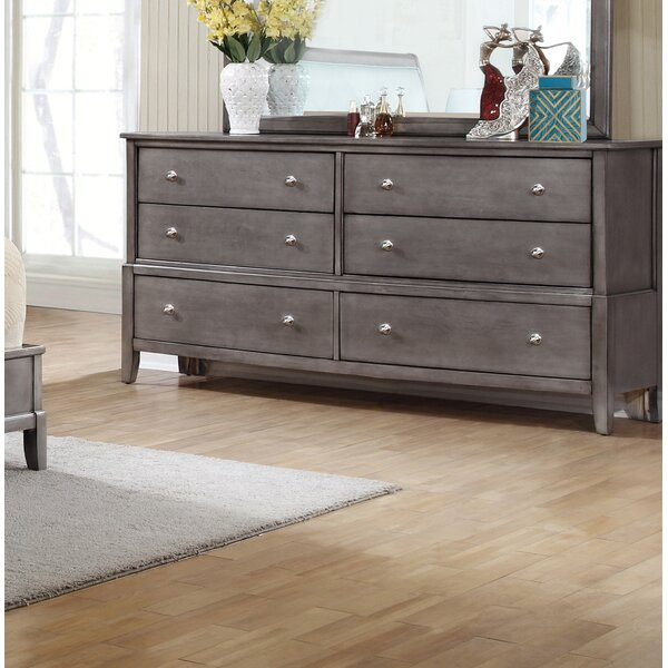 Tanya 6 Drawer Double Dresser by Gracie Oaks