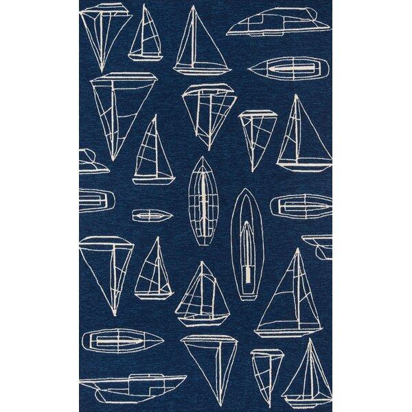 Harland Hand Hooked Navy Rug