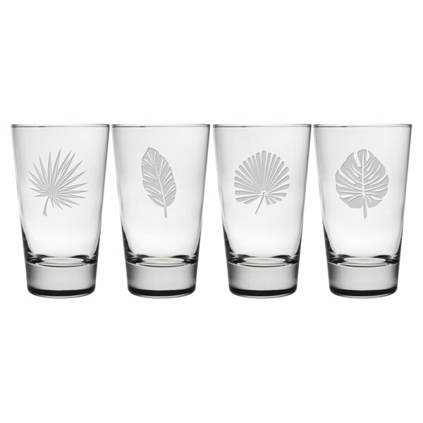 Tropical Foliage Hiball Glass (Set of 4) by Susquehanna Glass