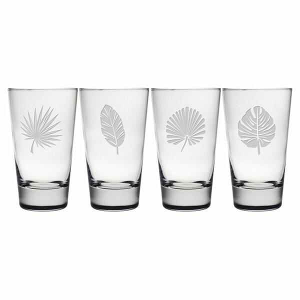 Tropical Foliage Hiball Glass (Set of 4) by Susquehanna Glass