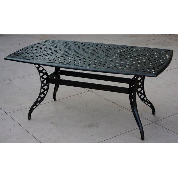 Pelayo Aluminum Dining Table by Fleur De Lis Living