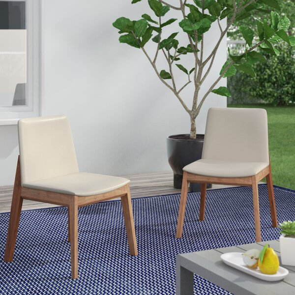 Polizzi Patio Dining Chair with Cushion (Set of 2) by Brayden Studio