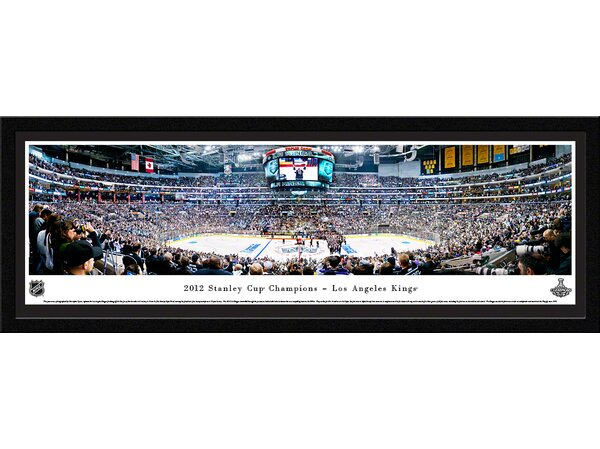 NHL 2012 Stanley Cup Champions - Los Angeles Kings by Christopher Gjevre Framed Photographic Print by Blakeway Worldwide Panoramas, Inc