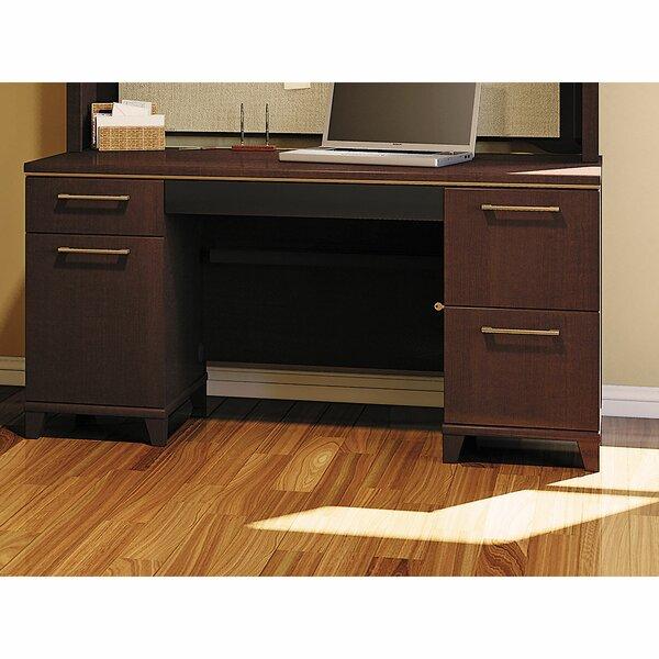 Enterprise Double Pedestal Office Executive Desk by Bush Business Furniture