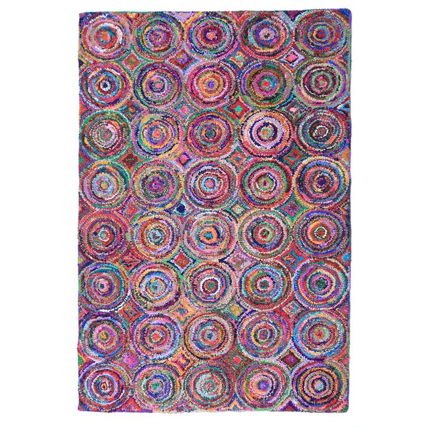 Doster Spiral Hand-Knotted Pink/Red Area Rug by Bungalow Rose