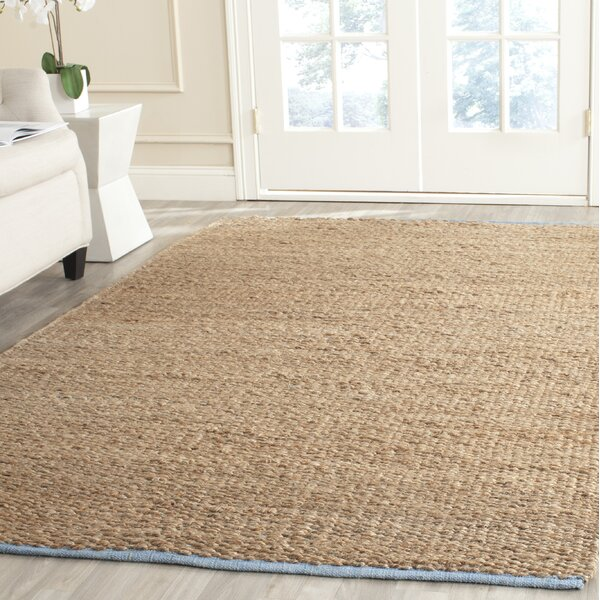 Elston Hand-Woven Light Beige/Natural Area Rug by Charlton Home