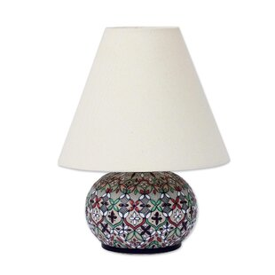 Bargain Galen Wildflowers Ceramic 9.75 Table Lamp By Bungalow Rose