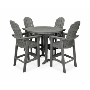 Vineyard Adirondack Nautical Trestle 5 Piece Bar Set By POLYWOOD®