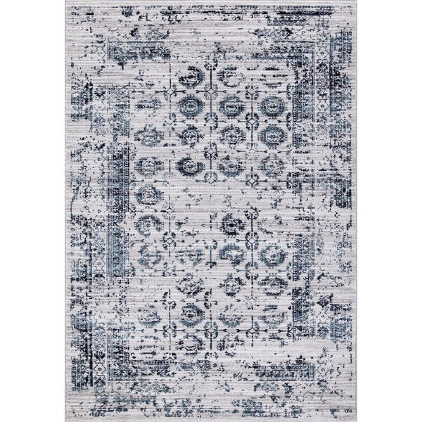 Queenan Beautifully Vintage Blue/Gray Area Rug by Bungalow Rose