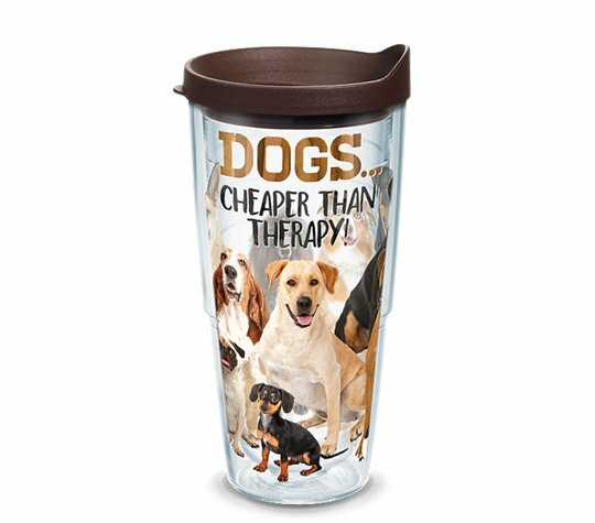Dog Therapy 24 oz. Plastic Travel Tumbler by Tervis Tumbler
