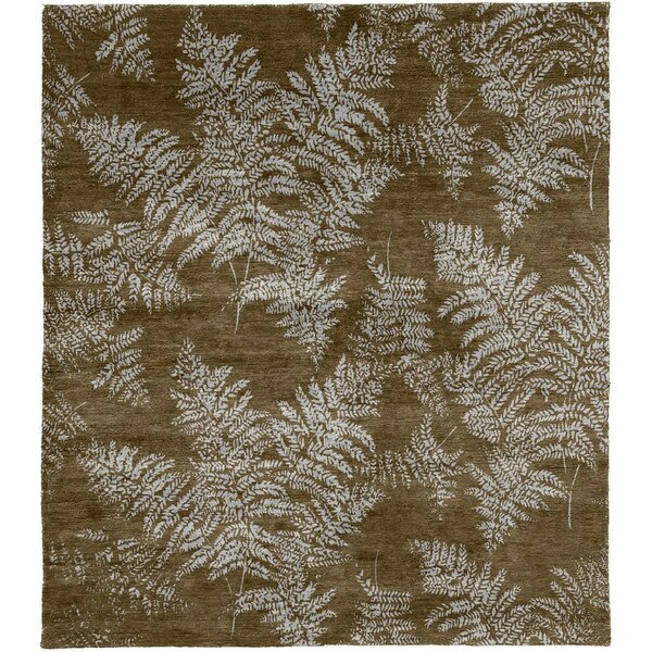 One-of-a-Kind Wharton Hand-Knotted Brown 8' Square Wool Area Rug