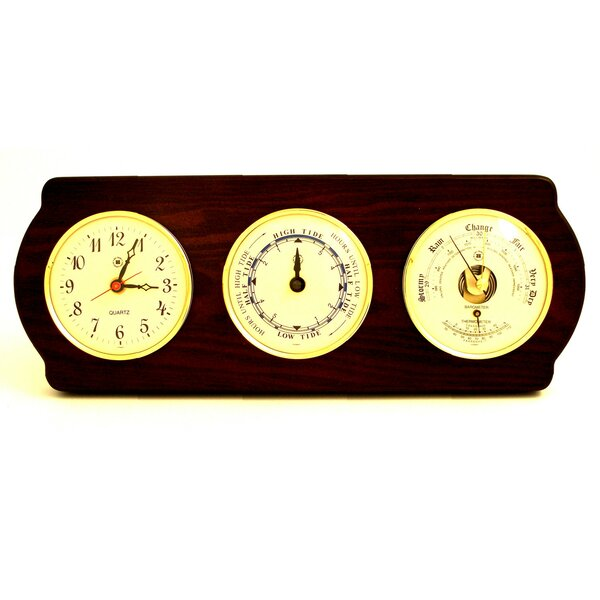 Time Tide Wall Clock with Barometer and Thermometer by Bey-Berk
