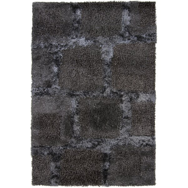 Taiquita Shag Black Area Rug by 17 Stories