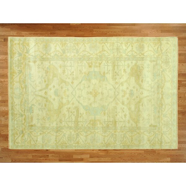 One-of-a-Kind Padang Sidempuan Modern Hand-Knotted Wool Beige Area Rug by Bloomsbury Market