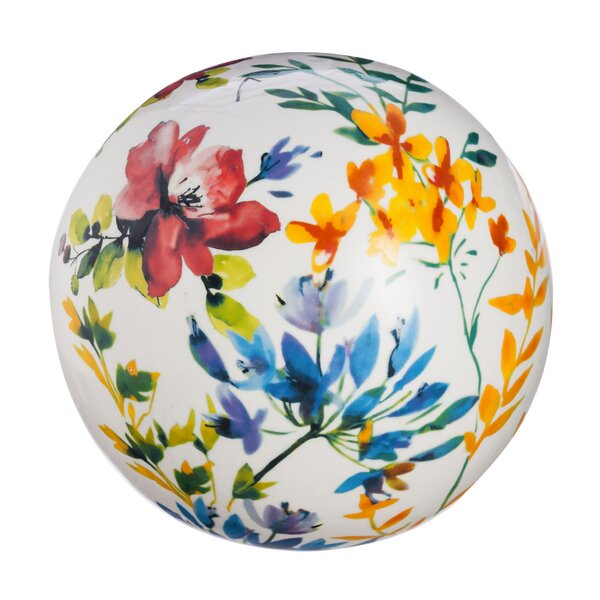 Bonnett Watercolor Floral Orb Gazing Globe by August Grove