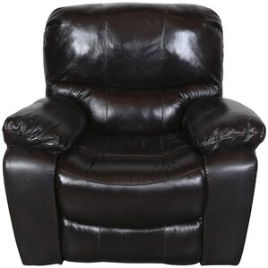 Gracehill Leather Power Gliding Recliner by Three Posts