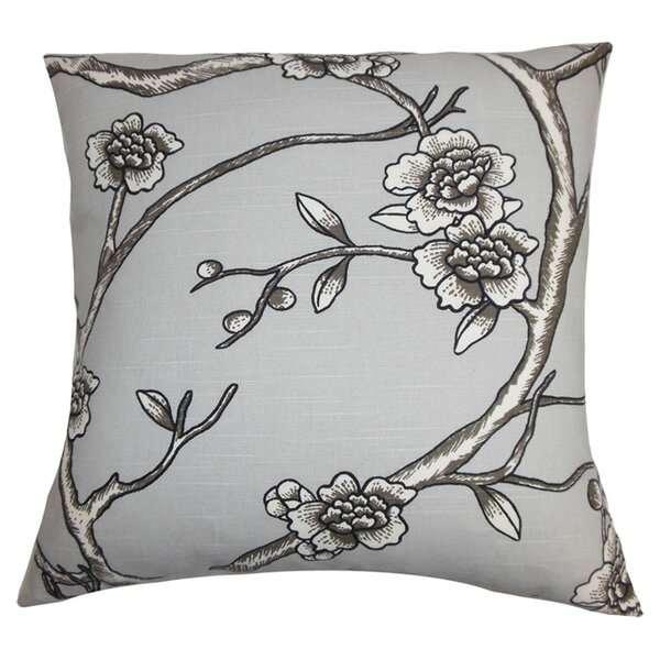 Mangels Floral Cotton Throw Pillow by Alcott Hill
