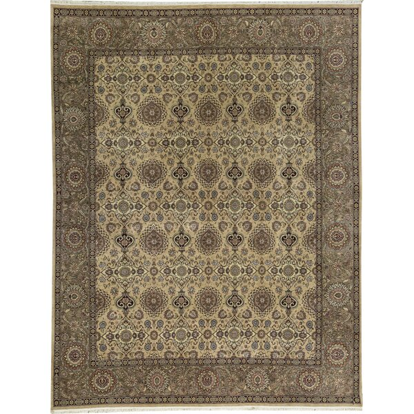 Manchuria Hand Knotted Wool Beige Rug