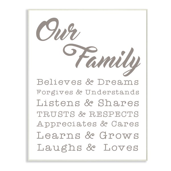 Our Family Laughs and Loves Textual Art by Stupell Industries