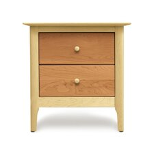 Sarah 2 Drawer Nightstand by Copeland Furniture