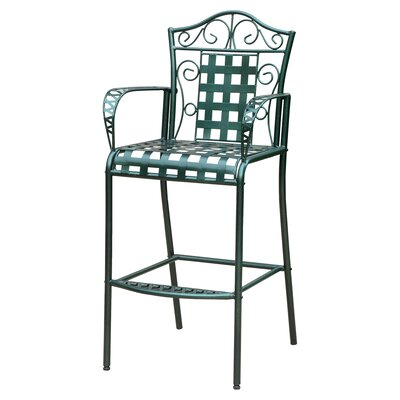 Abbottsmoor Patio Bar Stool Finish: Vertigris by Darby Home Co