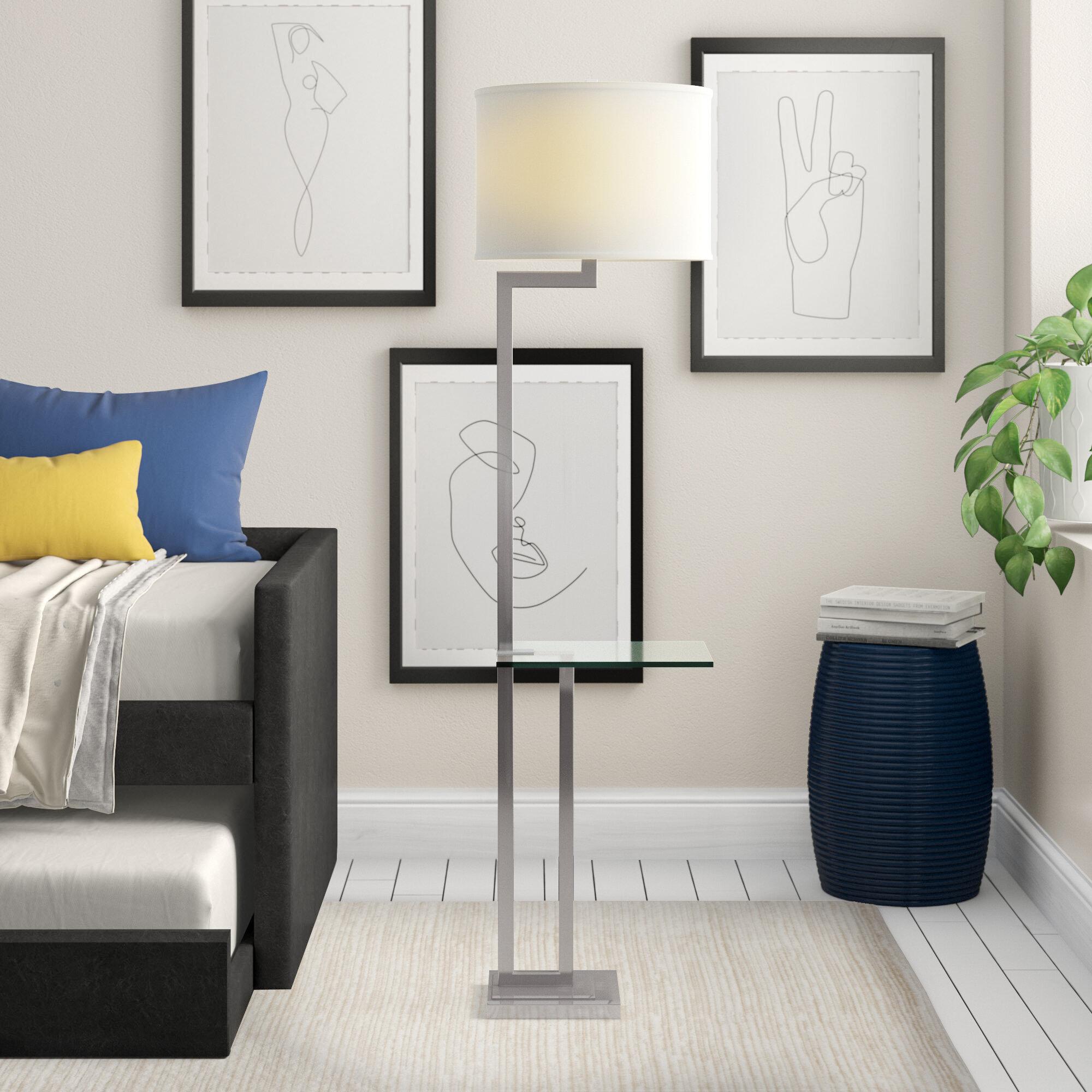 Zipcode Design Katlyn 63 Tray Table Floor Lamp Reviews Wayfair