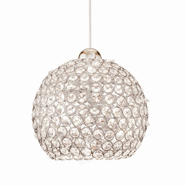 Crystal Roxy Quick 1-Light Globe Pendant by WAC Lighting