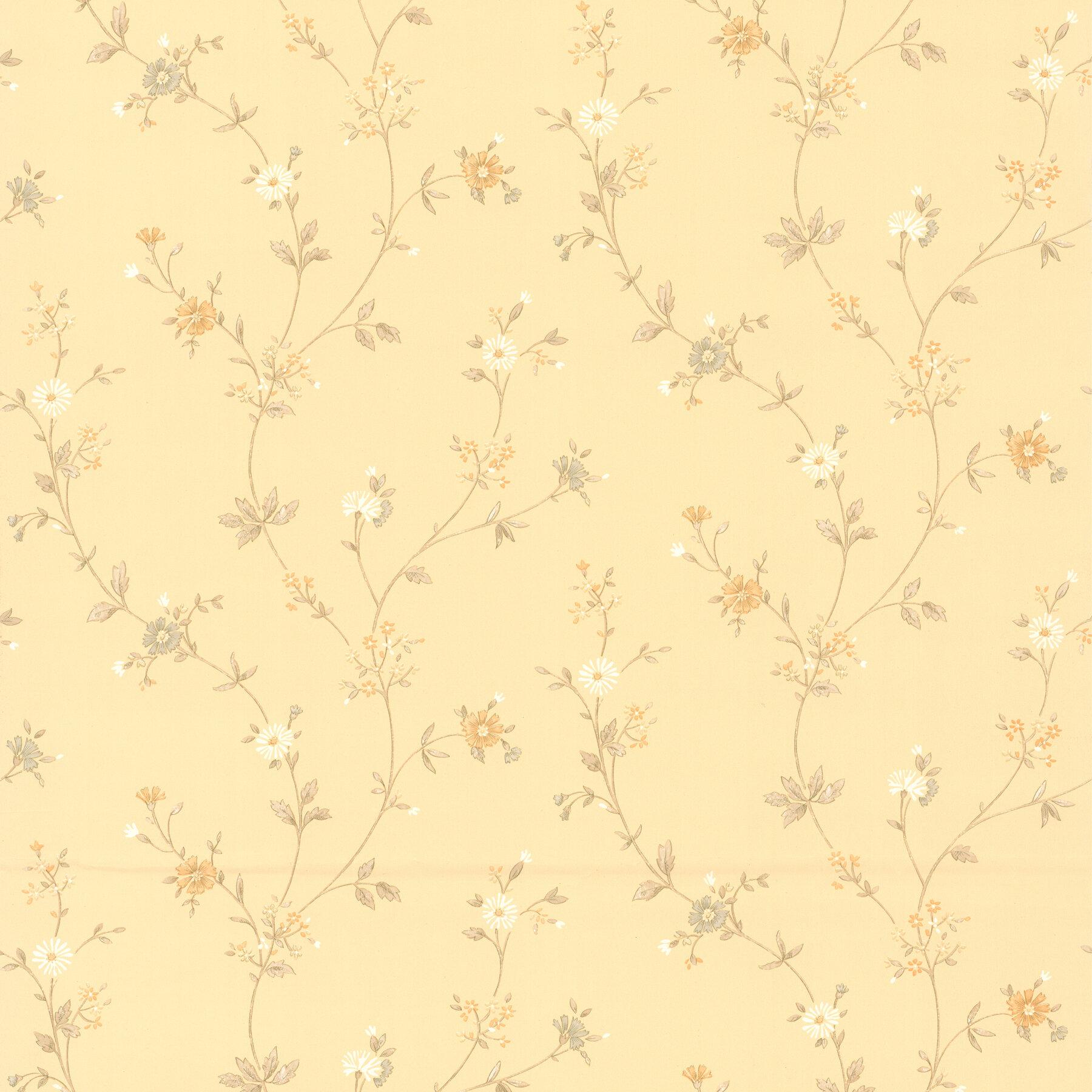 August Grove Aiko Daisy 33 X 20 5 Floral Wallpaper Wayfair