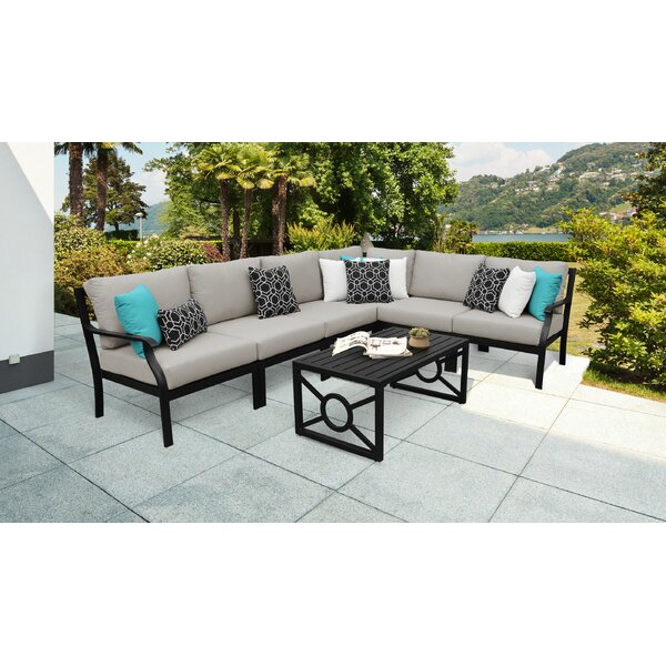 kathy ireland Madison Ave. 7 Piece Sectional Seating Group with Cushions by kathy ireland Homes & Gardens by TK Classics
