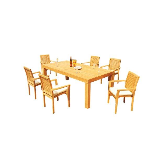 Maspeth 7 Piece Teak Dining Set By Rosecliff Heights by Rosecliff Heights Top Reviews