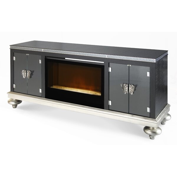 Hollywood Swank 81 TV Stand with Fireplace by Michael Amini