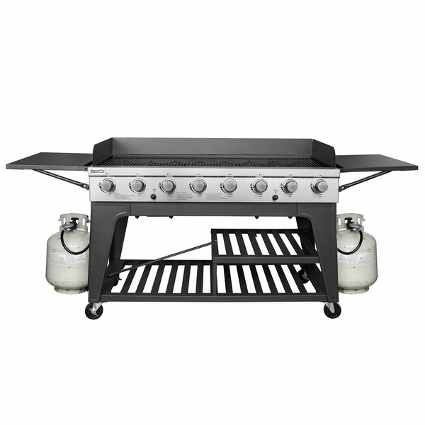 8-Burner Propane Gas Grill with Side Shelves by Ro