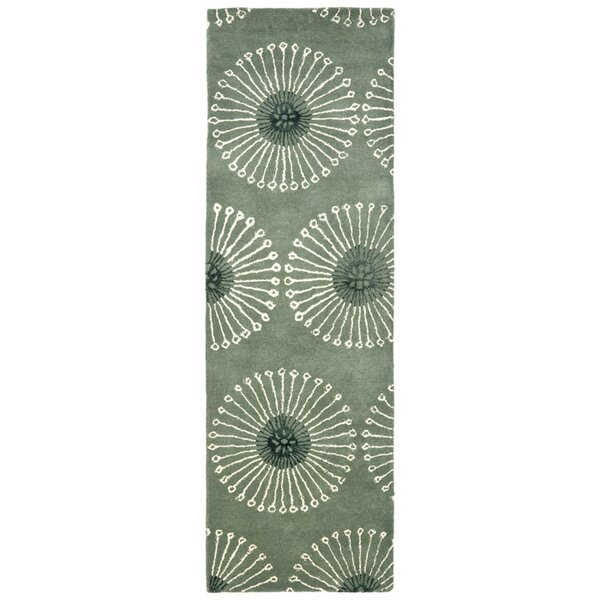 Lockwood Gray/Ivory Area Rug by Ebern Designs
