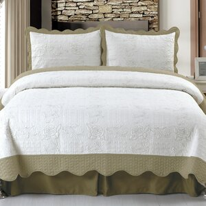 Jeana Embroidered Quilt Set