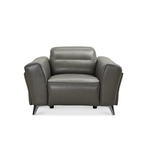 Paille Leather Power Wall Hugger Recliner by Orren Ellis