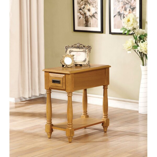 Hocker End Table with Storage by August Grove