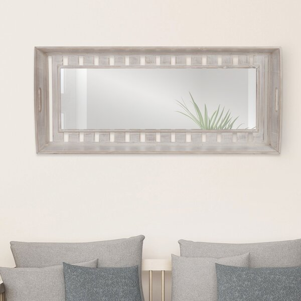 Cecilia Rustic Wood Plank Wall Mounted Mirror by Gracie Oaks