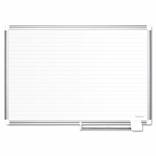Ruled Wall Mounted Magnetic Whiteboard by Mastervision