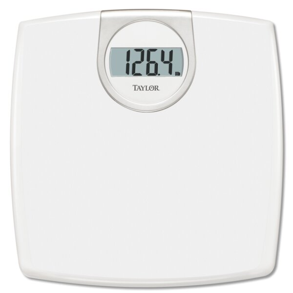 White Lithium Digital Bath Scale by Taylor