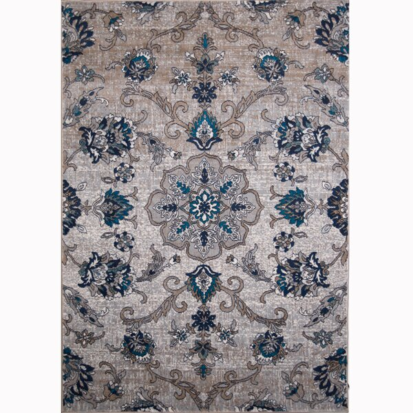 Arend Cream/Blue Area Rug by Charlton Home