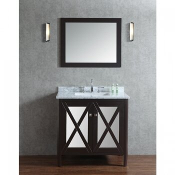 Summit 36 Single Bathroom Vanity Set with Mirror by Ariel Bath