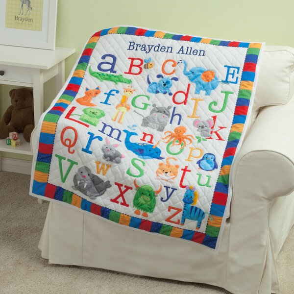 Kistner Personalized ABC Quilt by Zoomie Kids