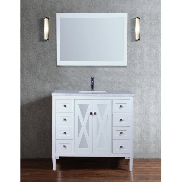 Denker 48 Single Bathroom Vanity Set with Mirror by Brayden Studio