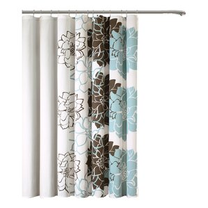 aqua and brown shower curtain. Broadwell Cotton Shower Curtain Brown Curtains You ll Love  Wayfair