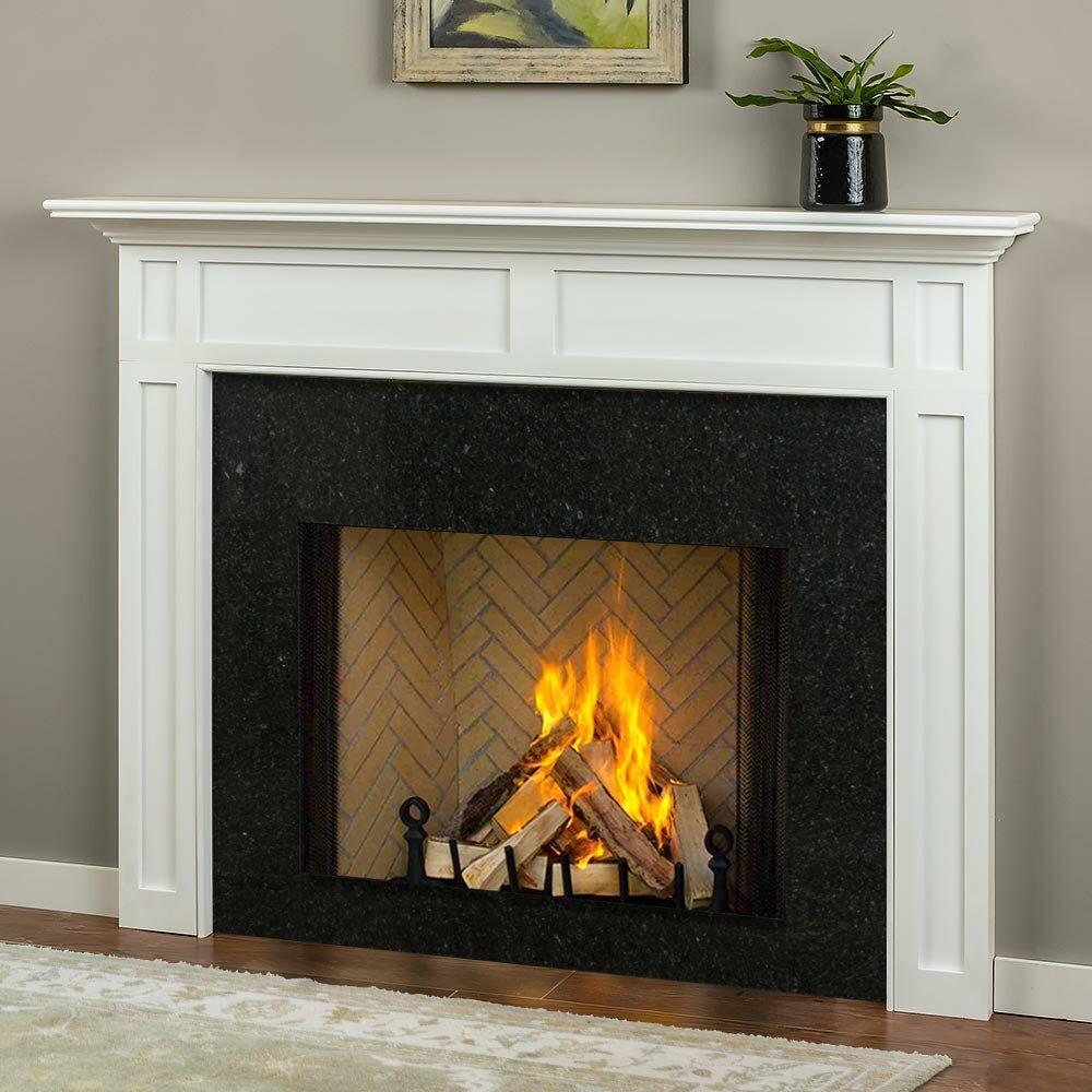 Mantels Direct Harrison Surround Wood Fireplace Shelf Mantel