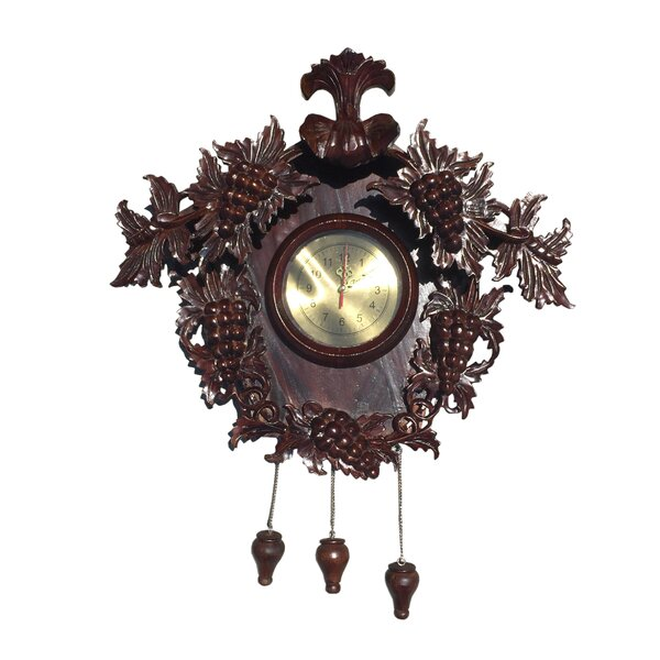 Grape Carved Clock by D-Art Collection