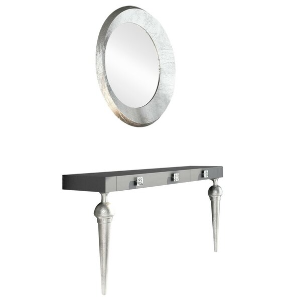 Deals Price Labarge Console Table And Mirror Set