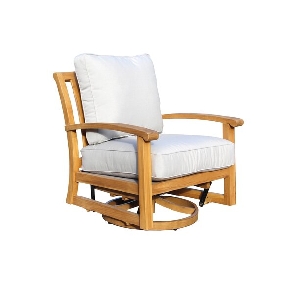 Chancy Courtyard Teak Patio Chair with Cushions by Rosecliff Heights